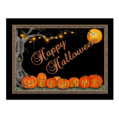 Happy Halloween Postcard at Zazzle