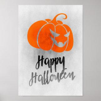 Happy Halloween Poster - Grunge Halloween Art