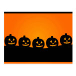 Happy Halloween Pumkin Heads Postcards