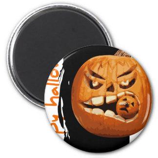 Happy Halloween Pumpkin 2 Inch Round Magnet