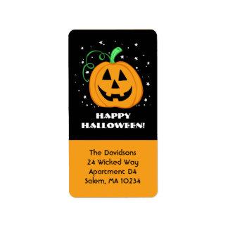 Happy Halloween Pumpkin Address Label