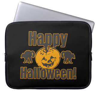 Happy Halloween Pumpkin Black Cats Computer Sleeve