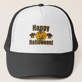 Happy Halloween Pumpkin Black Cats Trucker Hat