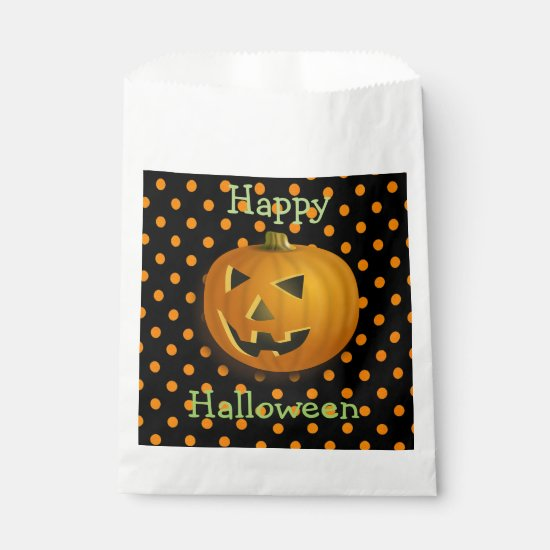 Happy Halloween Pumpkin Candy Favor Bags
