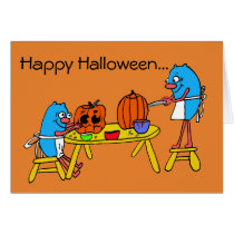 Happy Halloween Pumpkin Carving for Autism Card