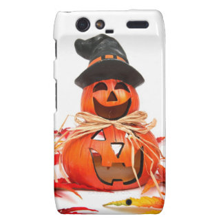 Happy Halloween Pumpkin Motorola Droid RAZR Case