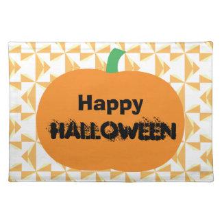 Happy Halloween Pumpkin Cloth Placemat