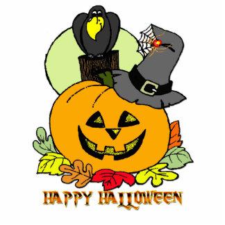 Happy Halloween - Pumpkin Crow Photo Sculpture