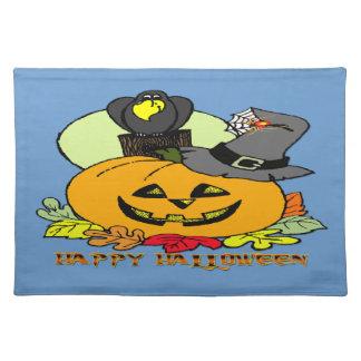 Happy Halloween - Pumpkin, Crow Placemats
