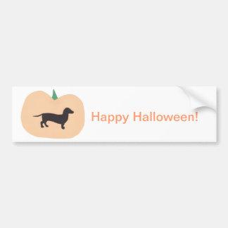 Happy Halloween Pumpkin Dachshund Bumper Sticker