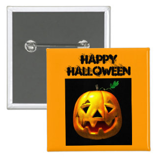 Happy Halloween Pumpkin Design 2 Inch Square Button