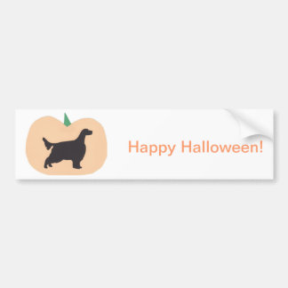 Happy Halloween Pumpkin English Setter Bumper Sticker