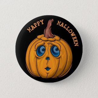 Happy Halloween Pumpkin Face Button