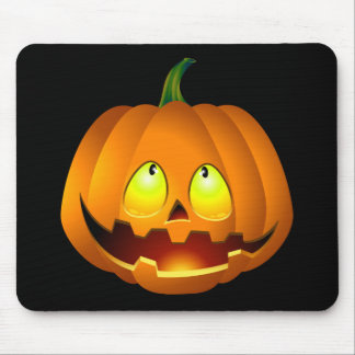 Happy Halloween Pumpkin Face Mouse Pad