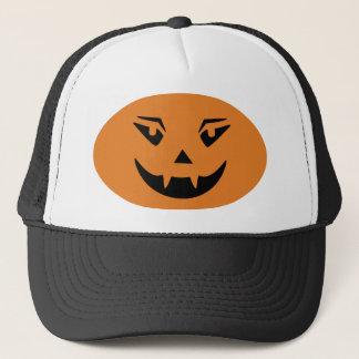 Happy Halloween Pumpkin Face Trucker Hat