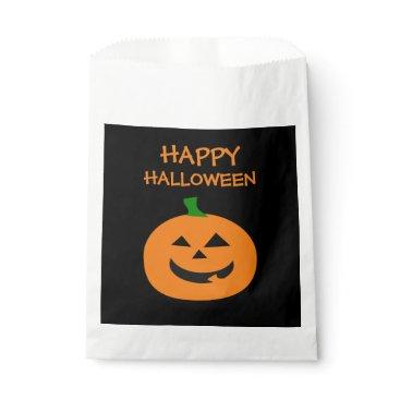 Happy Halloween Pumpkin Favor Bags