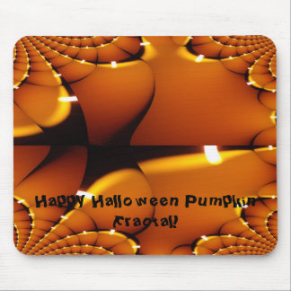 Happy Halloween Pumpkin Fractal Mouse Pad