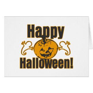Happy Halloween Pumpkin Ghosts Costume Card