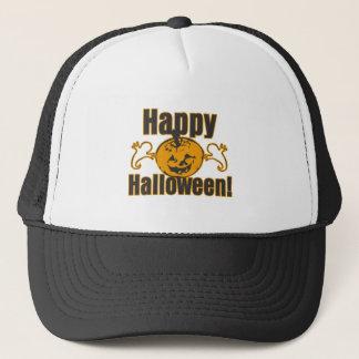 Happy Halloween Pumpkin Ghosts Costume Trucker Hat