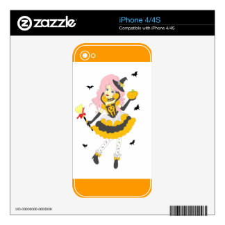 Happy Halloween Pumpkin Girl iPhone 4S Skins