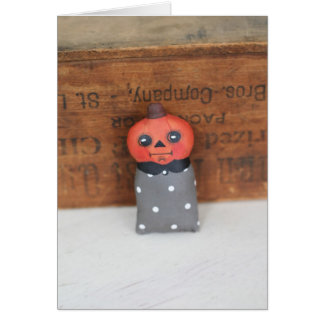 Happy Halloween, Pumpkin Head Card