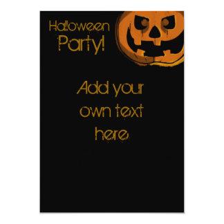 Happy Halloween Pumpkin Invititation Card