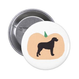 Happy Halloween Pumpkin Irish Wolfhound Button