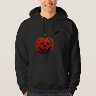 HAPPY HALLOWEEN PUMPKIN JACK-O-LANTERN & BAT HOODIE