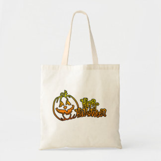 Happy Halloween Pumpkin Jackolantern Canvas Bag