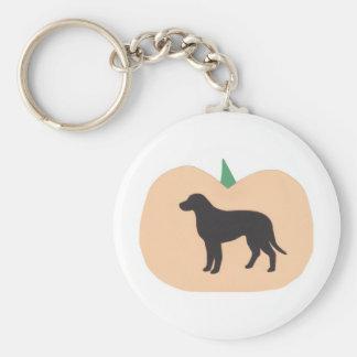 Happy Halloween Pumpkin Labrador Retriever Basic Round Button Keychain