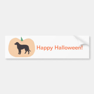 Happy Halloween Pumpkin Labrador Retriever Bumper Sticker