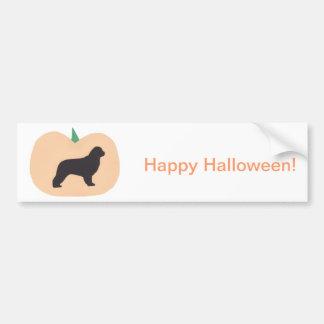 Happy Halloween Pumpkin Newfoundland Bumper Sticker