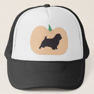 Happy Halloween Pumpkin Norfolk Terrier Trucker Hat