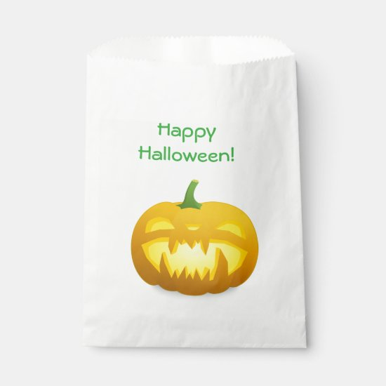Happy Halloween Pumpkin Party Candy Treats Bag