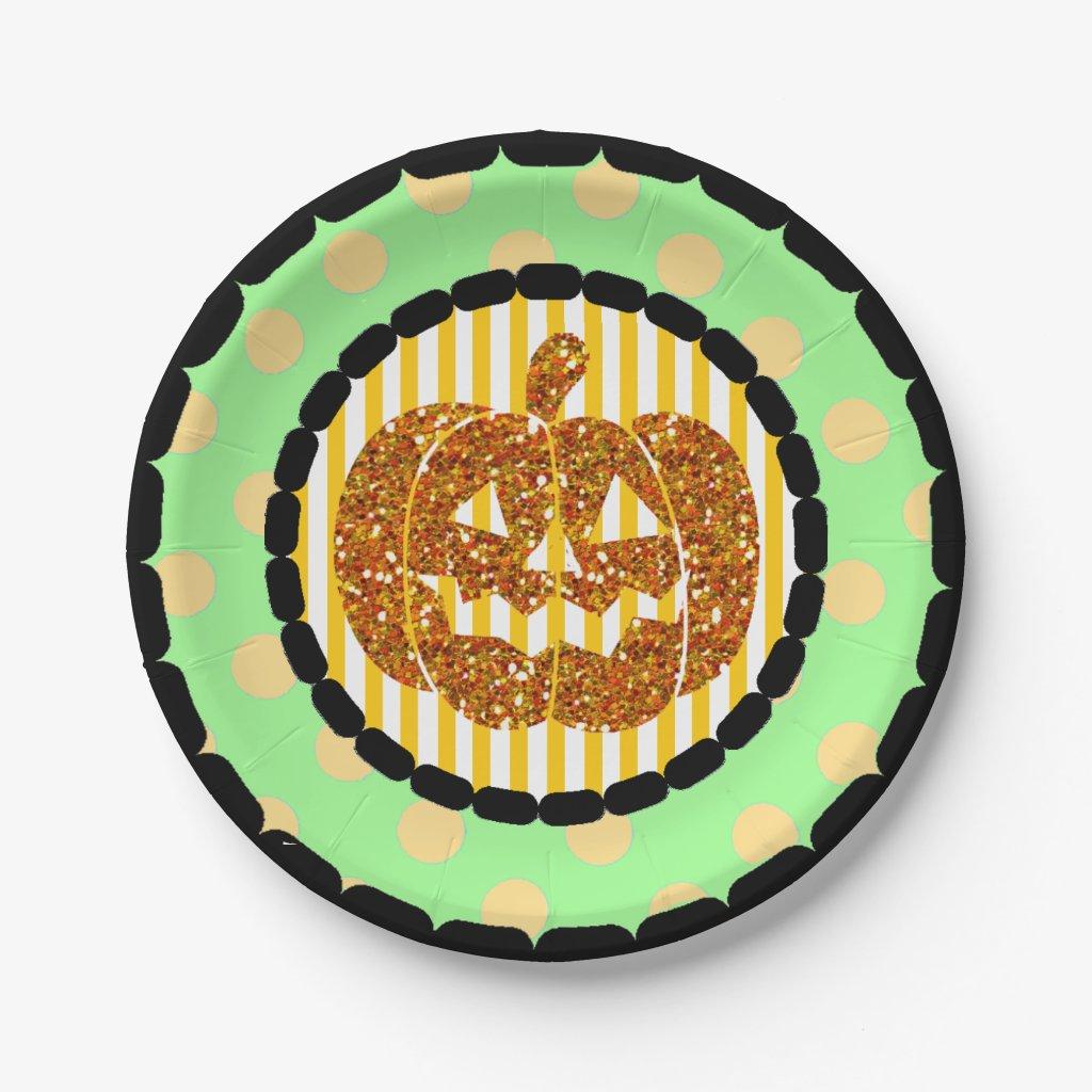 Happy Halloween Pumpkin Party Paper Plates