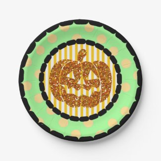 Happy Halloween Pumpkin Party Paper Plates