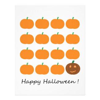 Happy Halloween Pumpkin Patch Scrapbook Paper Letterhead