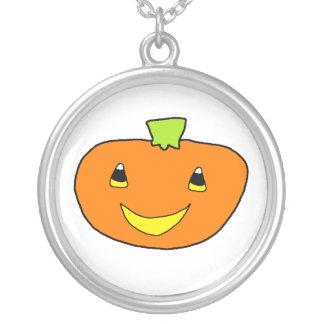 Happy Halloween Pumpkin Personalized Necklace