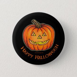 Happy Halloween Pumpkin Pinback Button