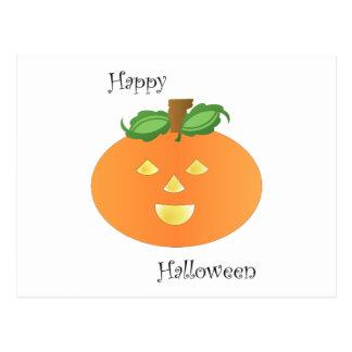 Happy Halloween Pumpkin Post Card