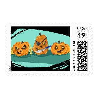 Happy Halloween pumpkin Postage