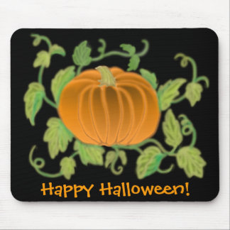 Happy Halloween Pumpkin Postcard Mouse Pad