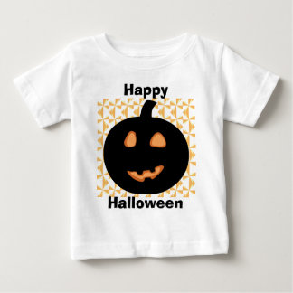 Happy Halloween Pumpkin Smiley Baby T-Shirt