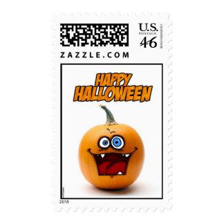 Happy Halloween pumpkin stamp