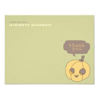 Happy Halloween Pumpkin Thank You Note Card