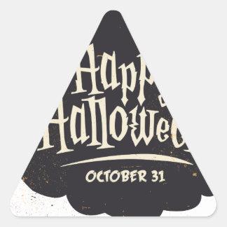 Happy Halloween Pumpkin Triangle Sticker