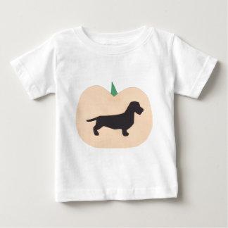 Happy Halloween Pumpkin Wire Hair Dachshund Baby T-Shirt