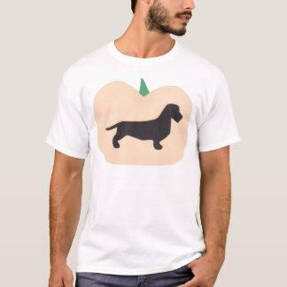 Happy Halloween Pumpkin Wire Hair Dachshund T-Shirt