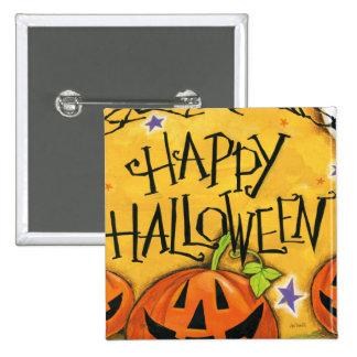 Happy Halloween Pumpkins 2 Inch Square Button