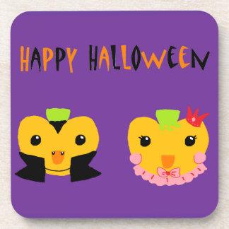 Happy Halloween Pumpkins Beverage Coaster